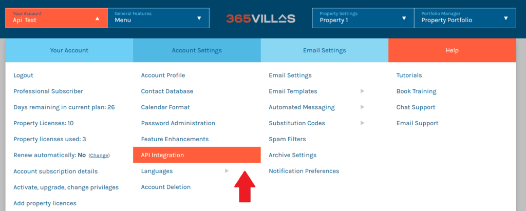 365 villas integration with pricelabs