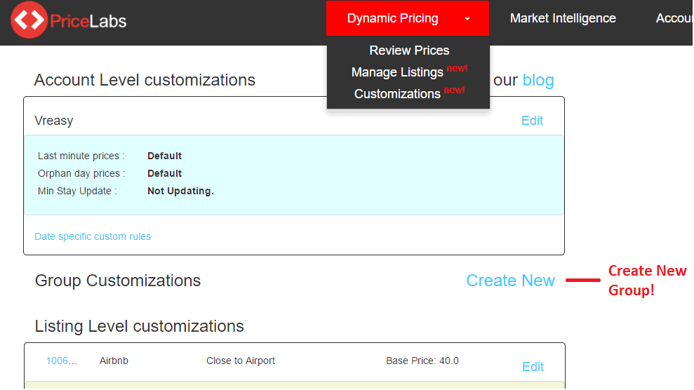 Customization Groups to Help Manage Multiple Listings Together
