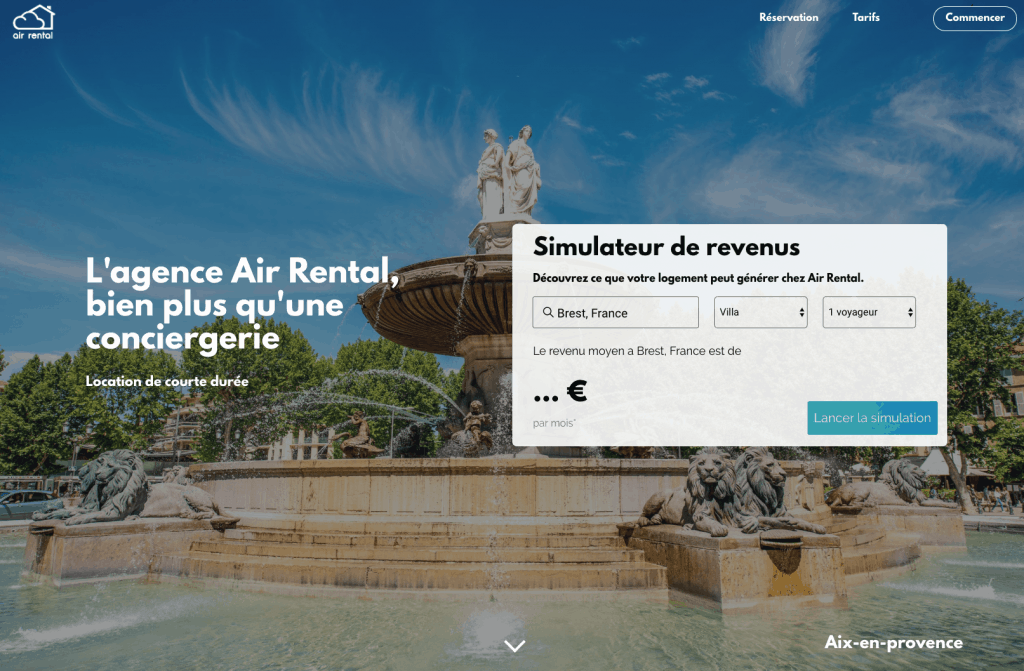 site vitrine air rental